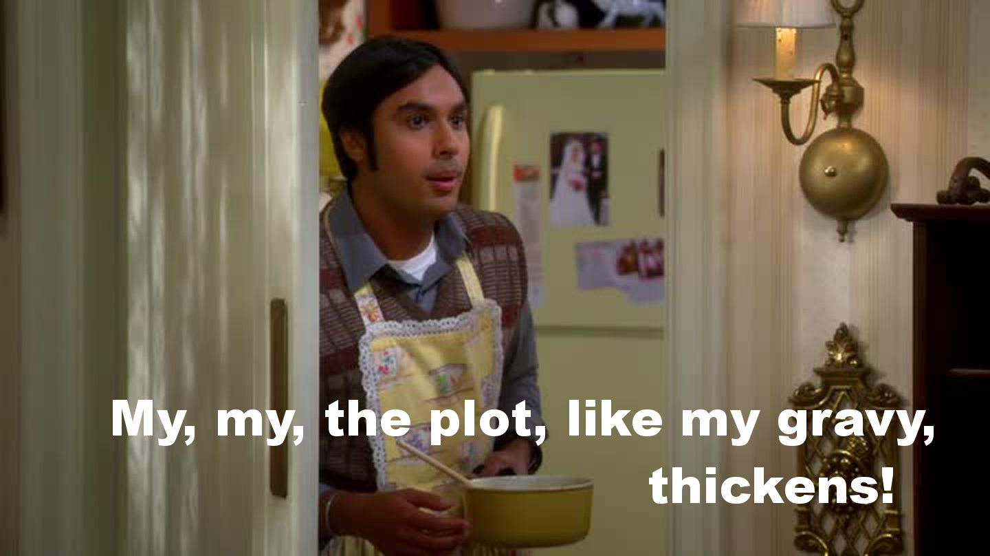 Raj in the kitchen is so funny, he is the perfect little housewife!