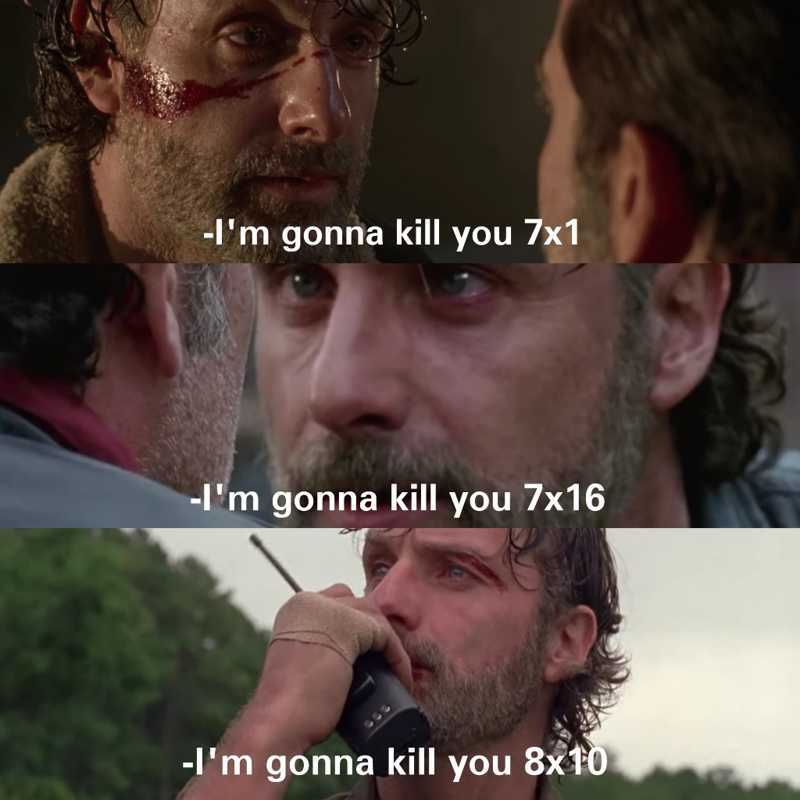 Come on Rick, you better kill him next time! 😂