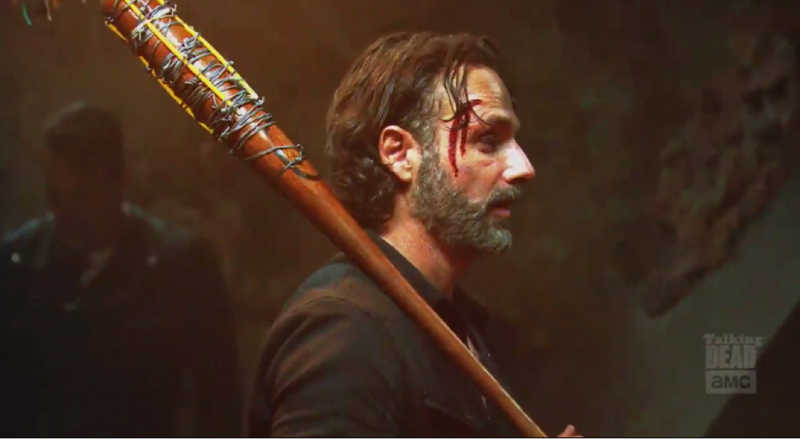 Rick Grimes w/ Lucille. I think I'm pregnant.