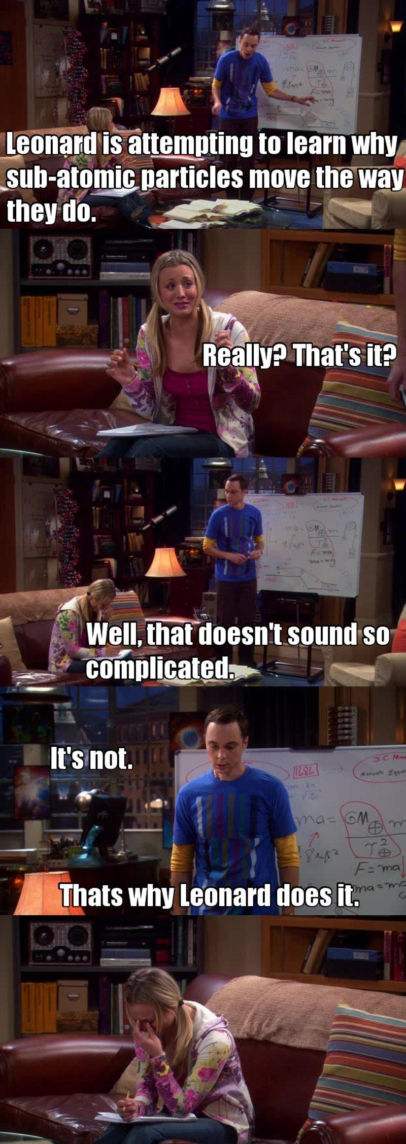 Sheldon's honesty