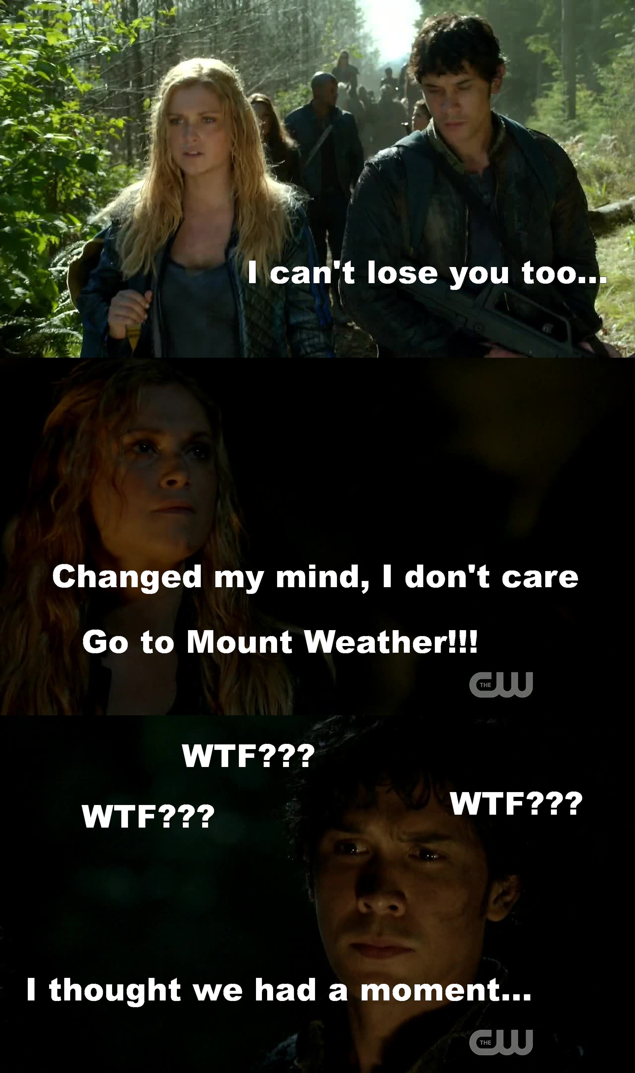 Clarke is losing herself...