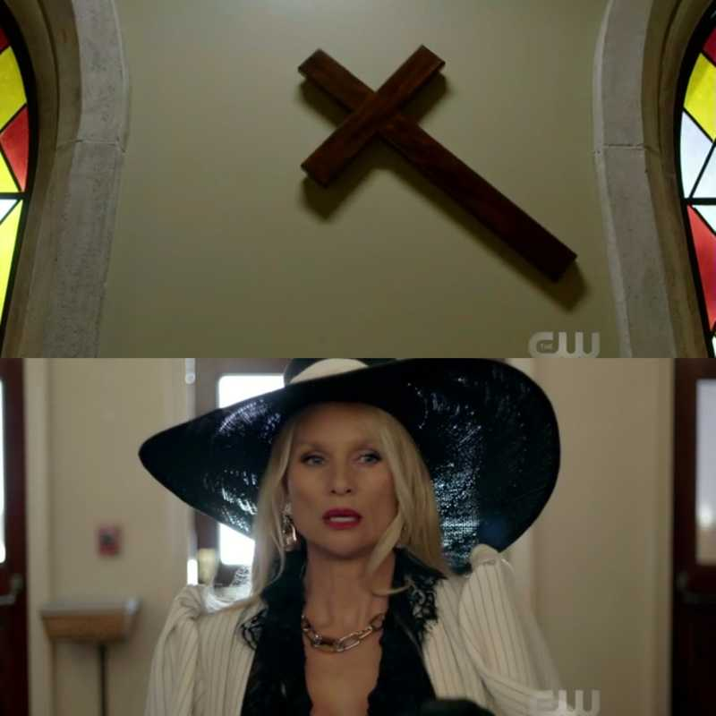 I love how the cross turned sideways just before Alexis entered 🤣... And omg ive been waiting for her to be on the show.... This was my fav episode so far.