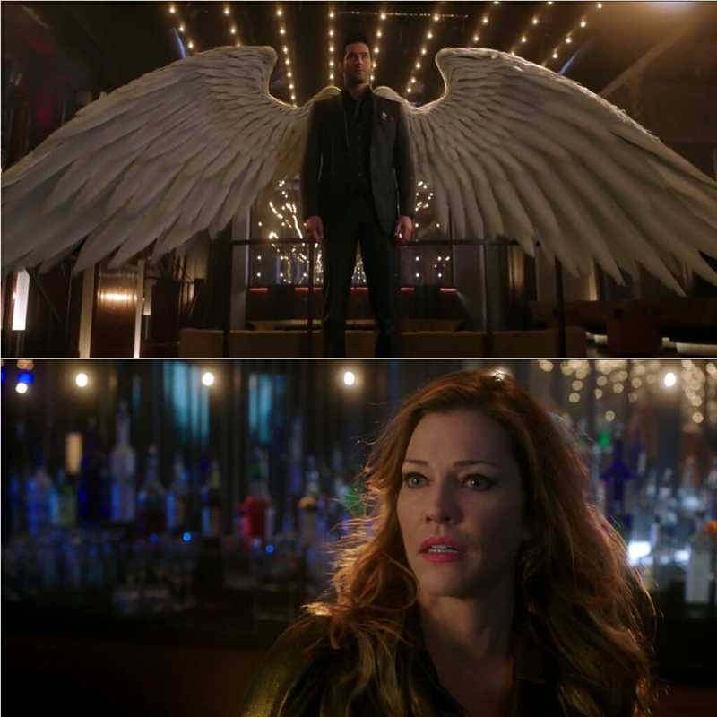Everyone saw Lucifer's wings except Chloe. She thinks Lucifer is lying. This is foolish and unfair.