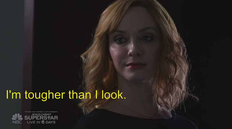 I am really loving this series. Christina Hendricks is magnificent.