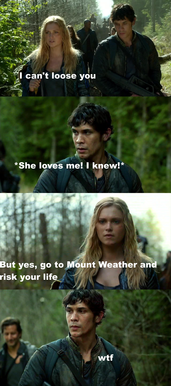 Clarke, for God's love, make a decision!  #Bellarke