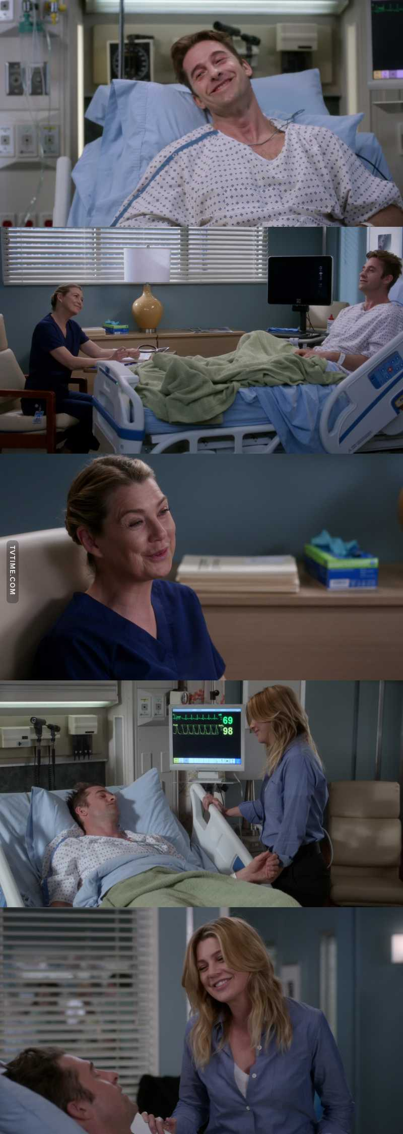 """He made me feel something that i haven't felt since Derek.""  Me too, Meredith, me too."