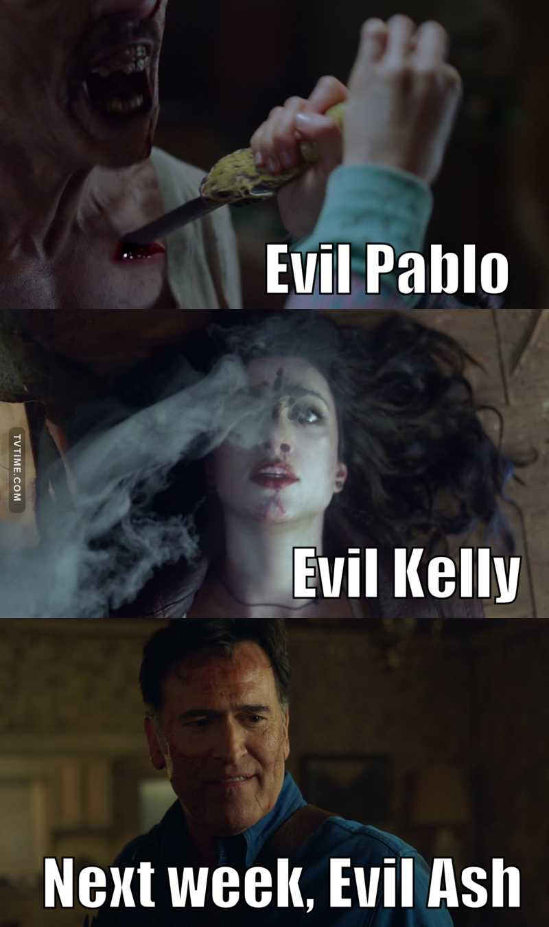 Hot damn! Season 3 lives up to it's number! 3 EVIL counterparts to our main characters. First Pablo was evil, now Kelly, and next week there will be an evil Ash.   And no, I don't count Ruby because she was evil to begin with.