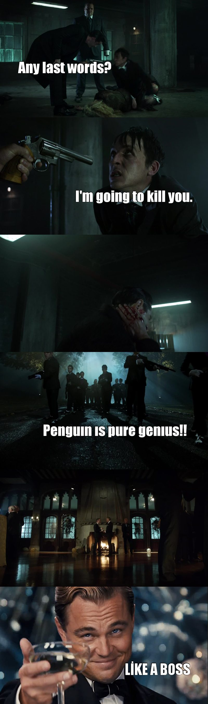 I'm completely in love with this show. And Penguin. 😍💃👀