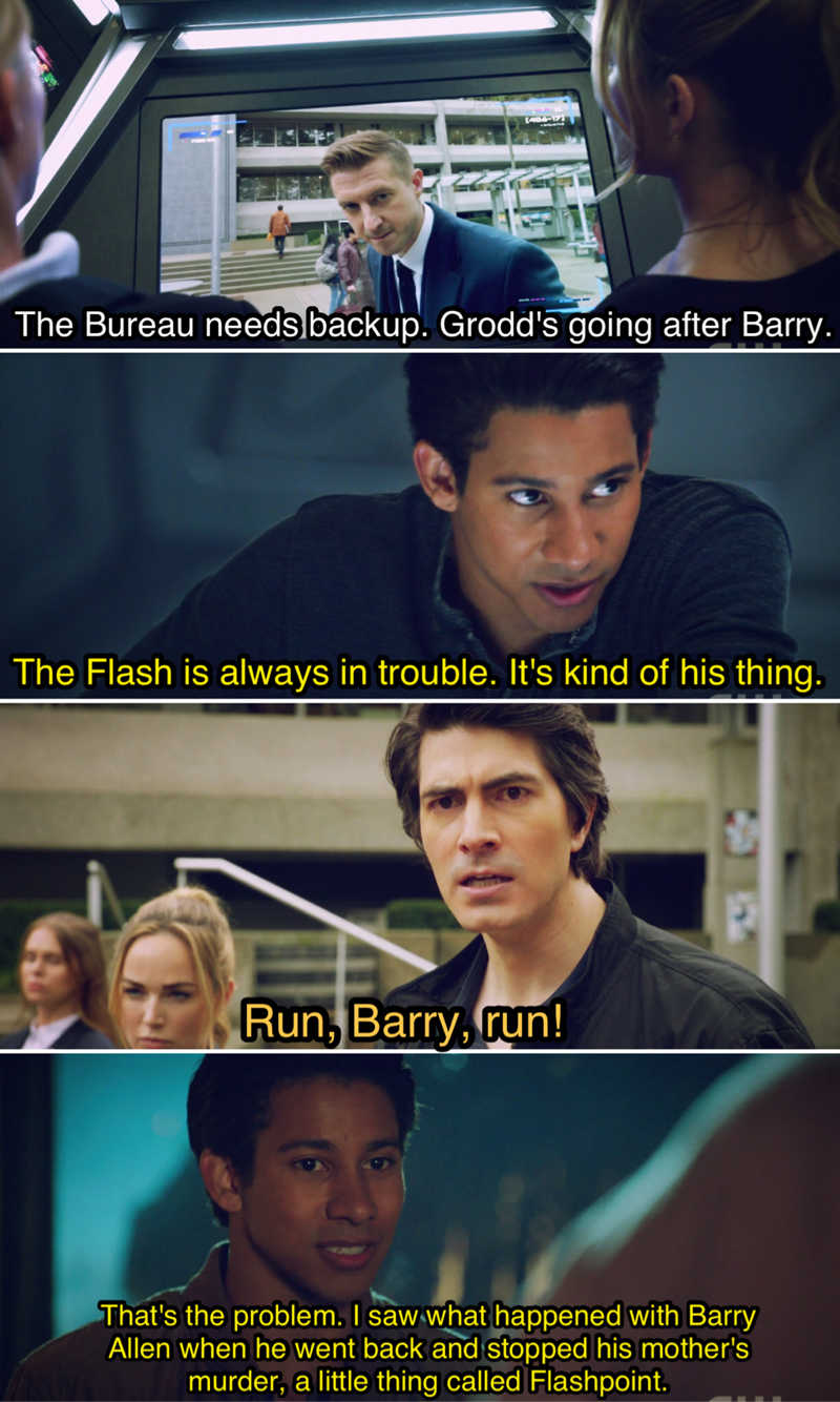 Those Flash references 👌😂 Also, Wally with all the logic in this ep on how NOT fucking the timeline is the best idea 😏🤣
