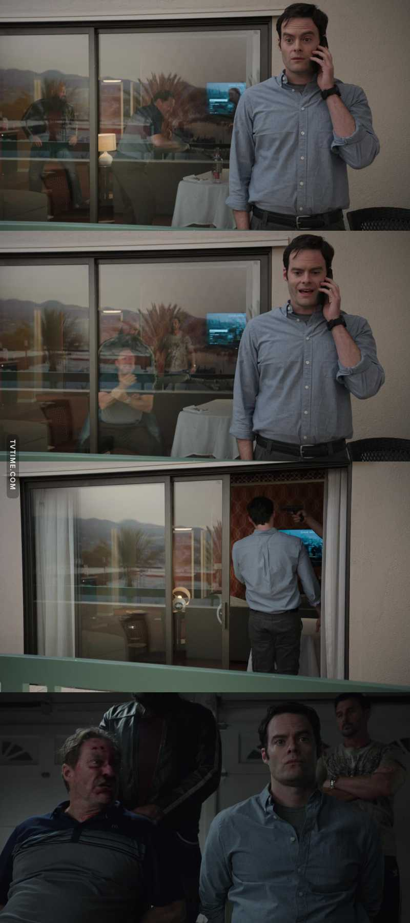 """""""You didn't hear me screaming?!"""" """"I was on the phone."""" 😂"""
