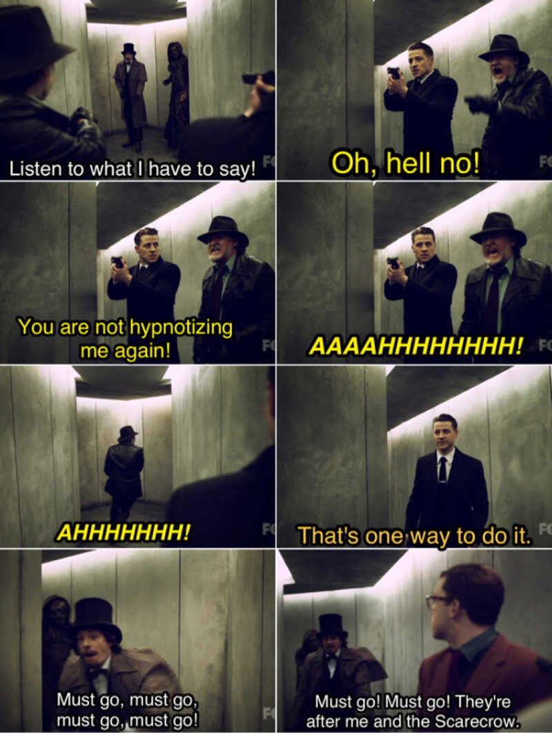 Harvey chasing Crane and Tetch... This scene was pure gold 😂👌