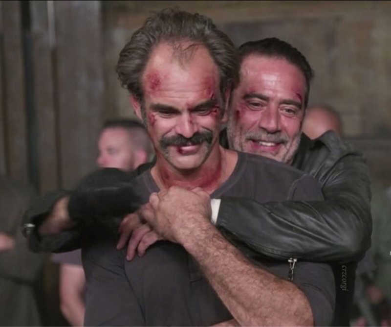 Steven Ogg and Jeffrey Dean Morgan (Behind the Scenes )