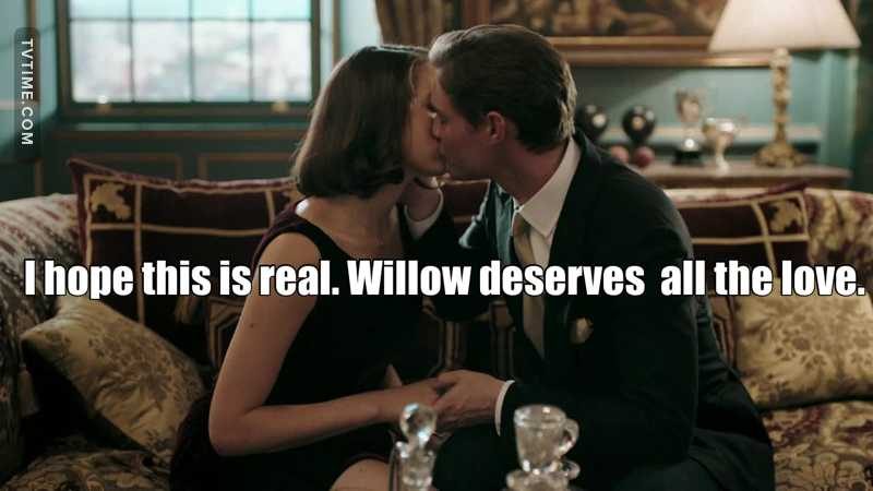 Robert seems so convincing that he is in love with Willow. I hope that is true because Willow is such a good person and has great character, she deserves to be loved truly.