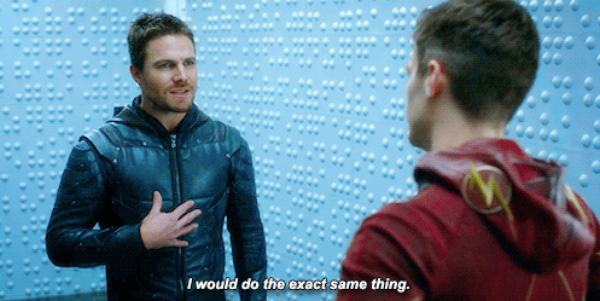 Okay so Barry is being super serious all the time now, he never smiles, he benches and alienates people, he wants everyone to do as he tells them to do. It's official, Barry turned into Oliver Queen!