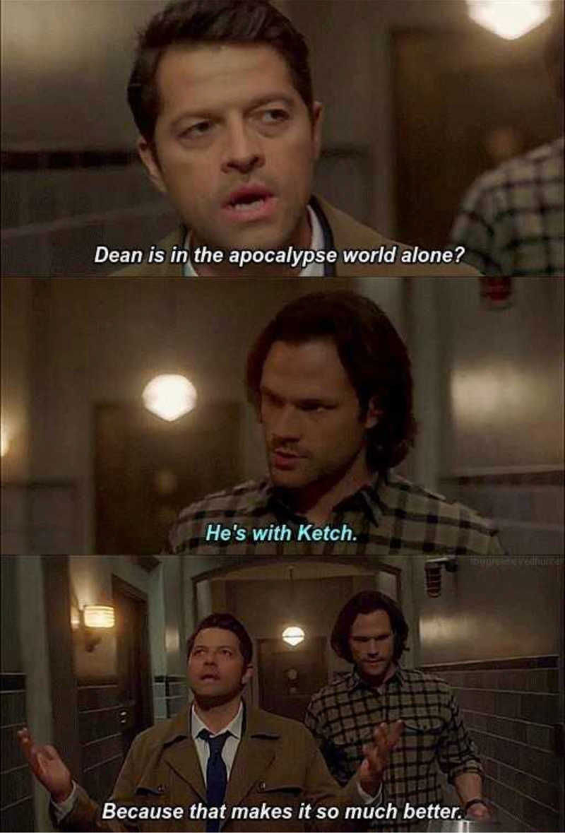 CAS'S SO DONE WITH THE WINCHESTERS CRAP😂