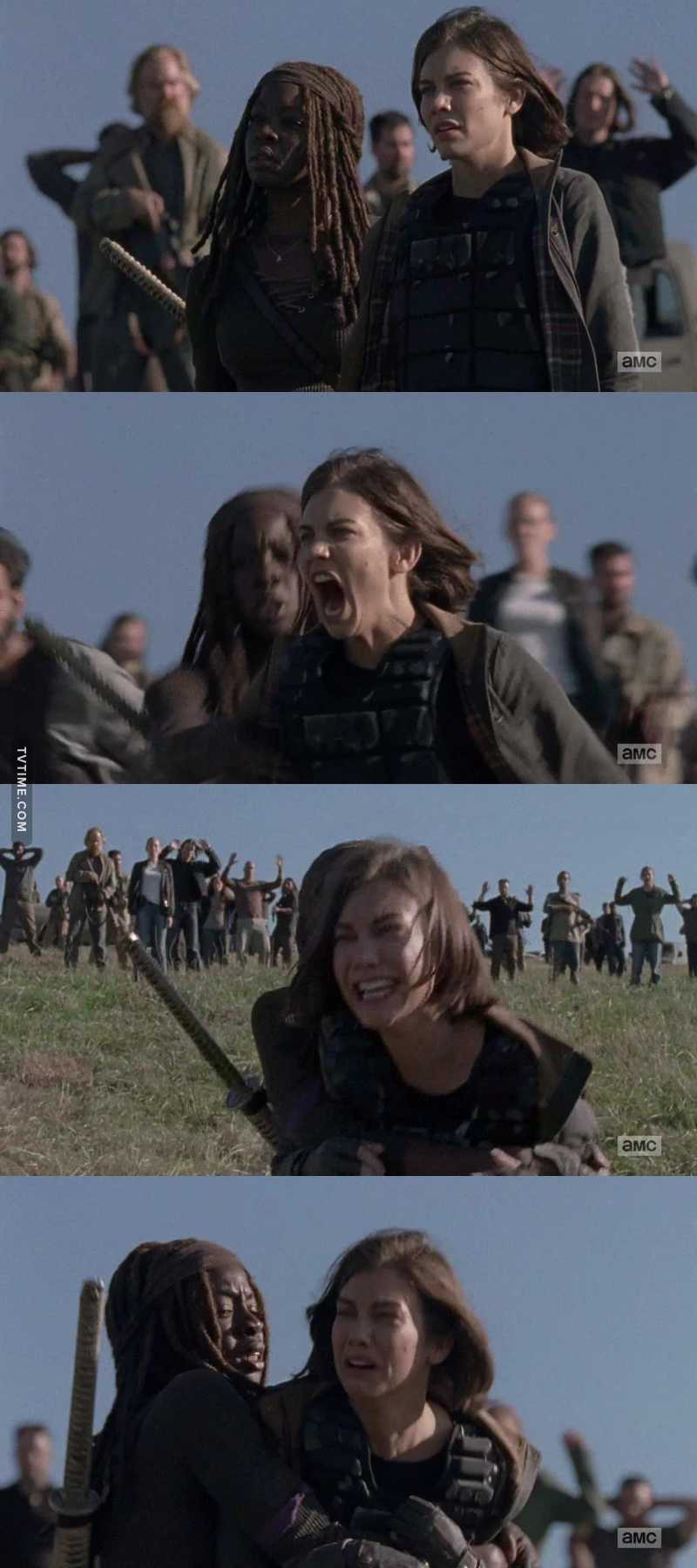 Lauren Cohan really owned this scene. She portrays Maggie Rhee so brilliantly. Pay the woman!!!