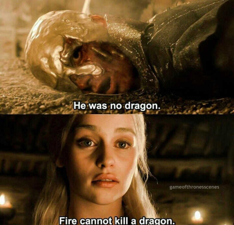 She's the dragon.🖤🖤