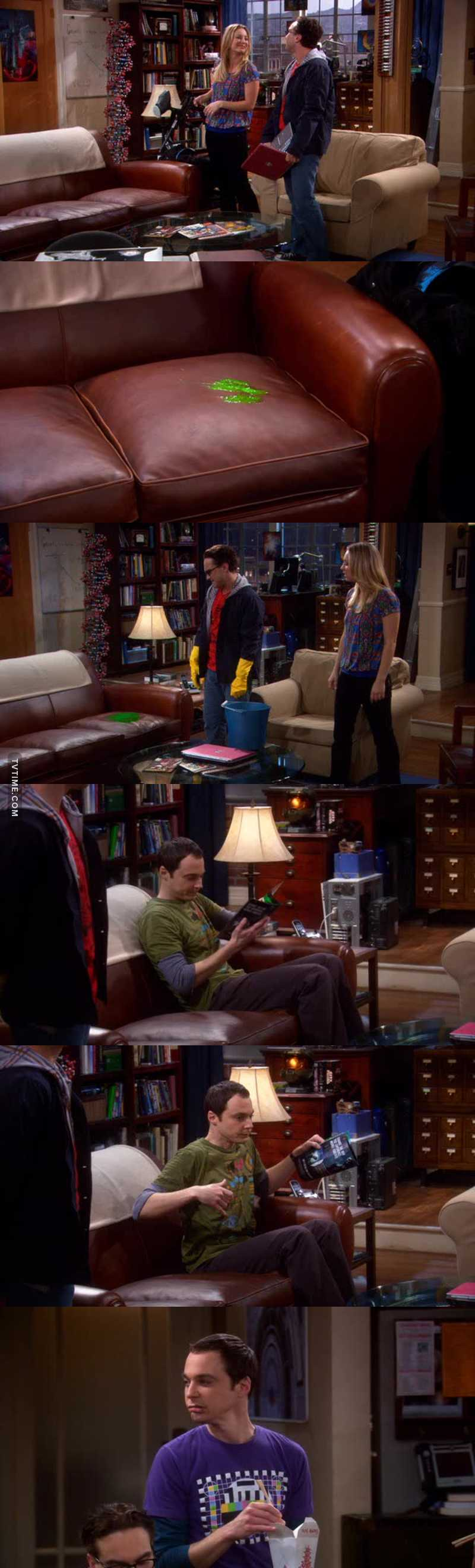 Sheldon and his spot.. 🤣🤣