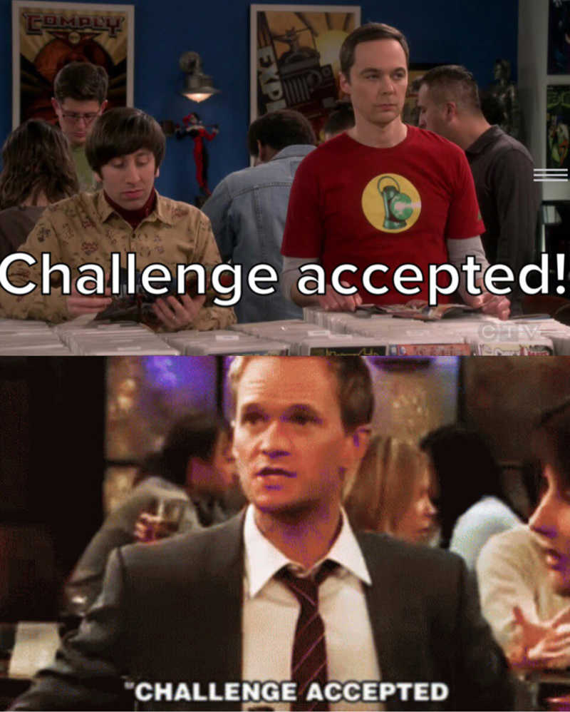 Am I the only one that immediately thought of Barney from How I Met Your Mother and all his challenges about women? 😂😂😂