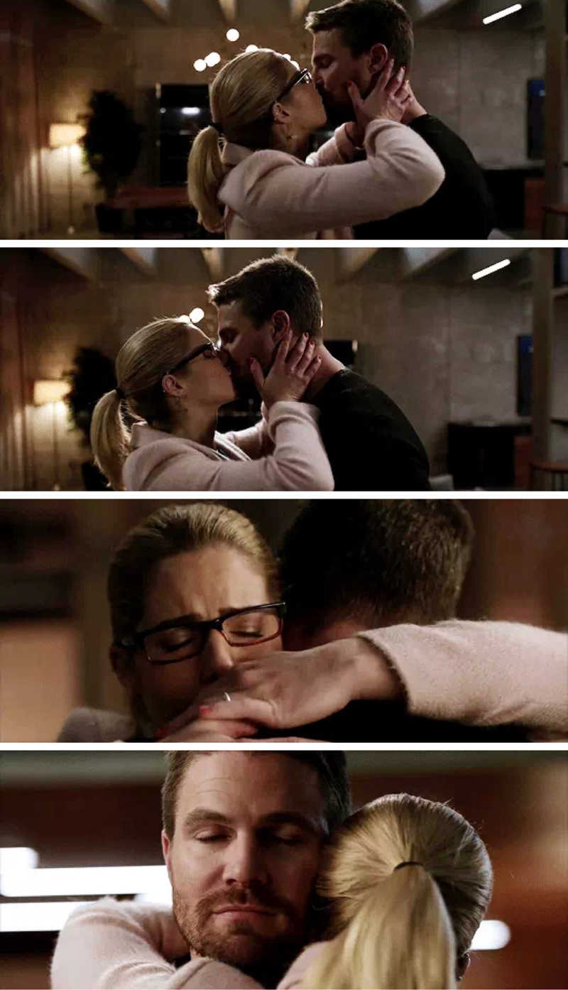 Felicity's fear for his safety and Oliver reassuring her he will always come back is heartbreakingly  beautiful.