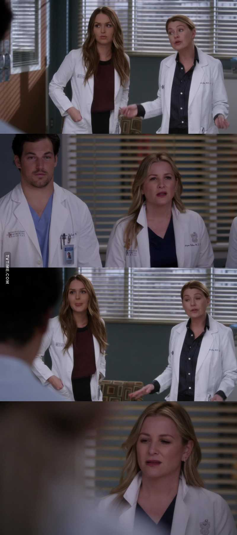 Arizona: you scared me to death! Meredith: you knew they had weed in them! Arizona: right yeah. I forgot 😂😂😂😂😂😂
