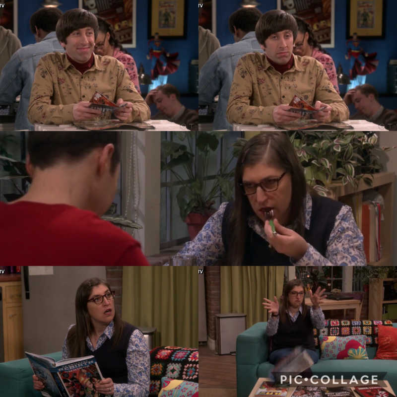 Howard and Amy's reaction to Sheldon
