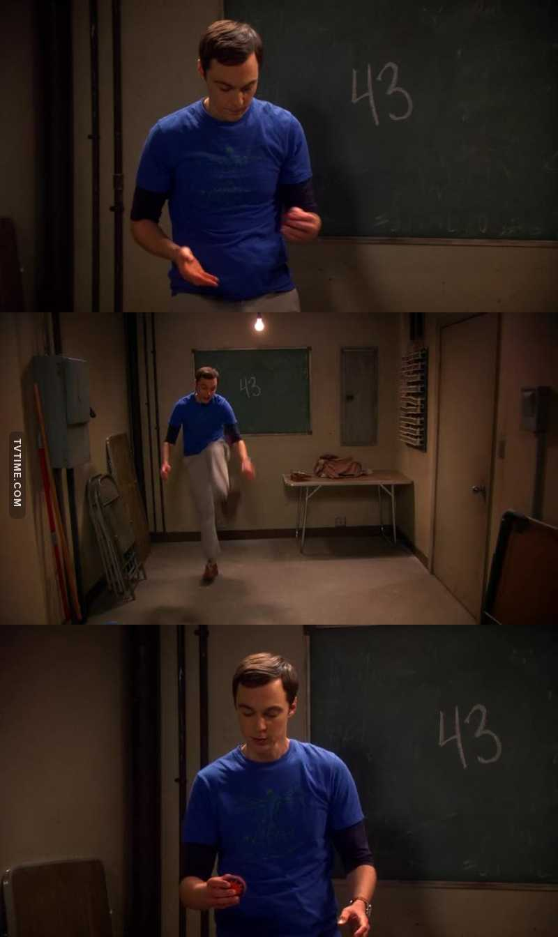 """I'm never gonna reach 43."" 😂😂😂 Sheldon is the best!"