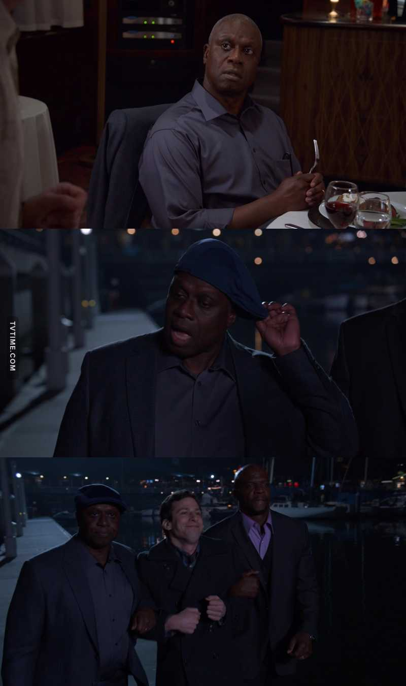 "We need more of ""Raymond with kangol cap."" Best part of the episode."