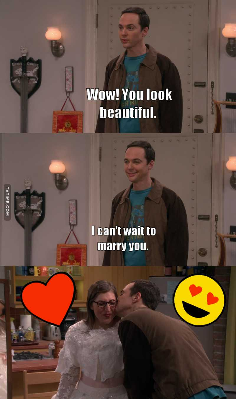 It's the first time that I see Sheldon smile with a really happy  and not weird smile. So cute! ♥