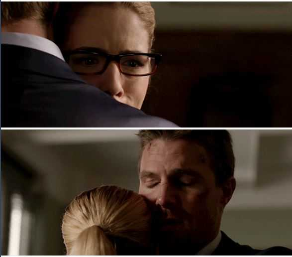 "Felicity: ""We fight for each other Oliver. We protect each other. We're gonna save each other."" Oliver: ""I can handle losing my freedom. I cannot handle losing you and William.""  😭😭😭😭😭😭💚"