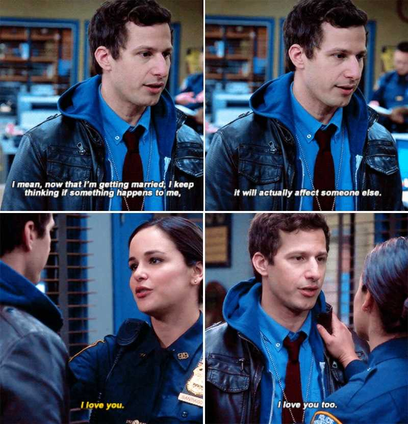 Jake and Amy's very healthy relationship should be used as an example of how to write a perfect couple by all TV writers 💗💓💕💖💞💘💝