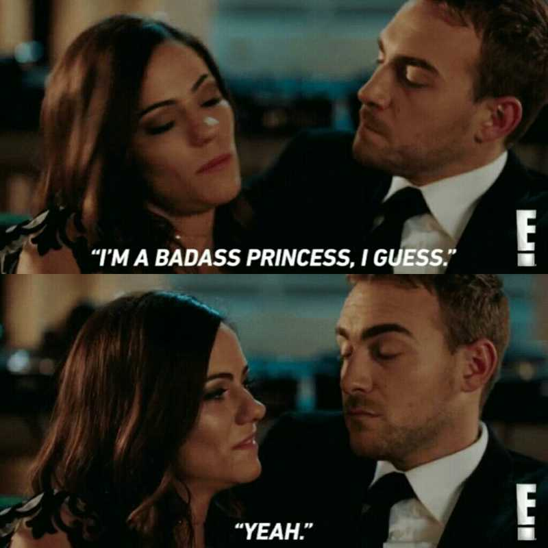 """""""Listen, I understand that you feel betrayed but this city is a better place because of it. Because of YOU."""" """"Yeah. I'm a badass princess I guess."""" """"Yeah. You're my badass princess.""""  😍✨😍✨❤️ Jaspenor gives me life in each episode and I love this season for that!"""