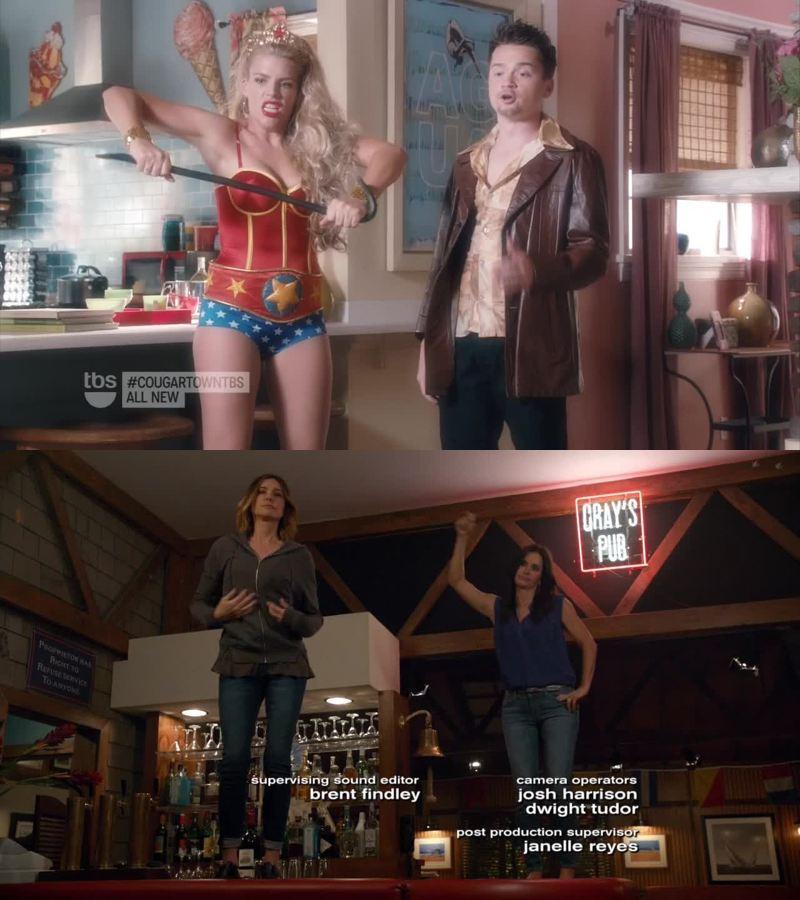 Tellement de références cinématographiques ! Wonder Woman, Fight Club, Cotote Girls...