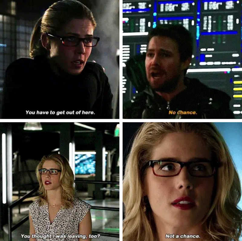 They will never leave each other behind!!  Love me some Olicity parallels.