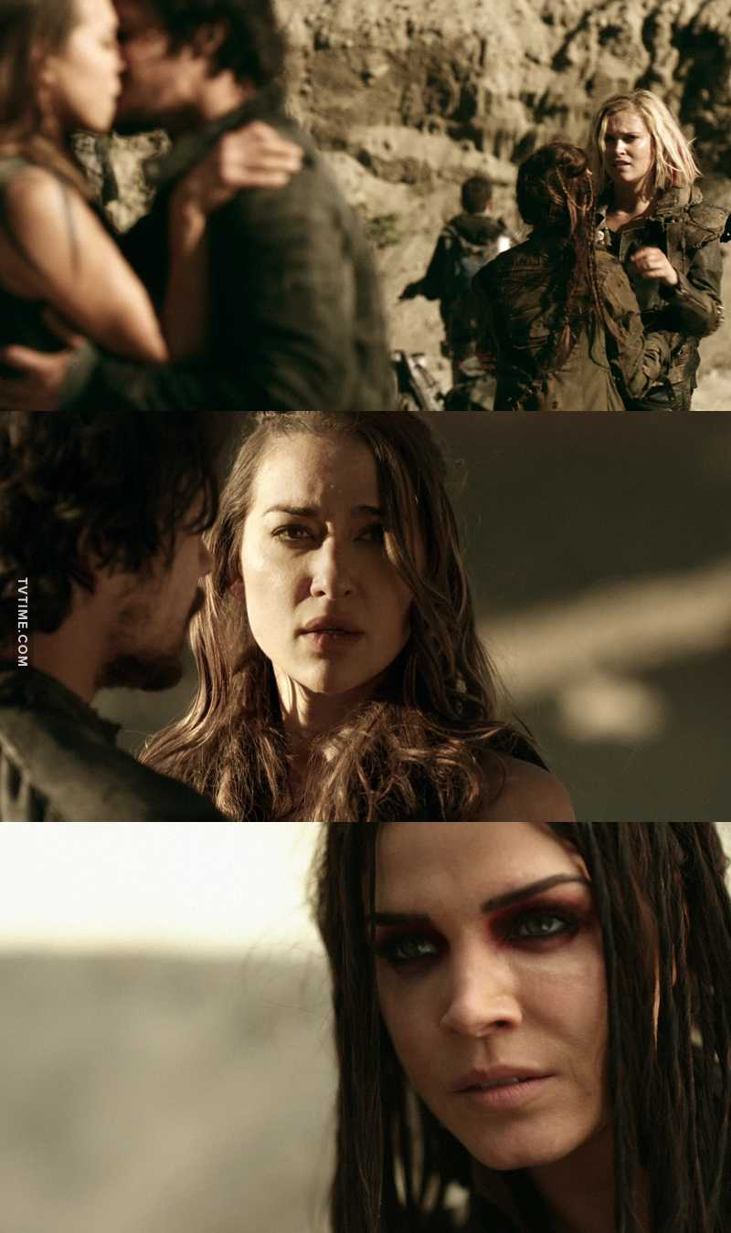 Clarke & Octavia's faces = all of us