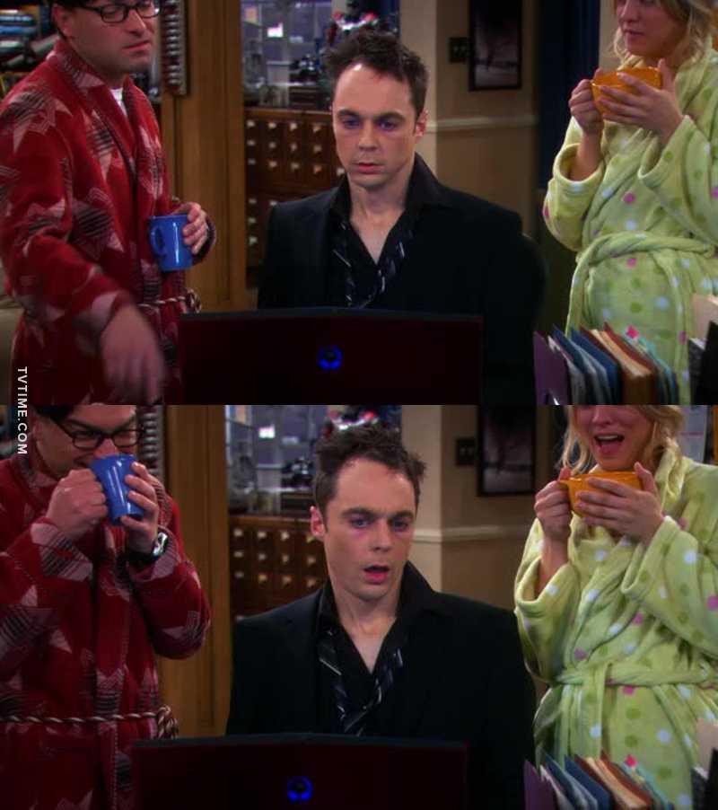 Drunk Sheldon 👌