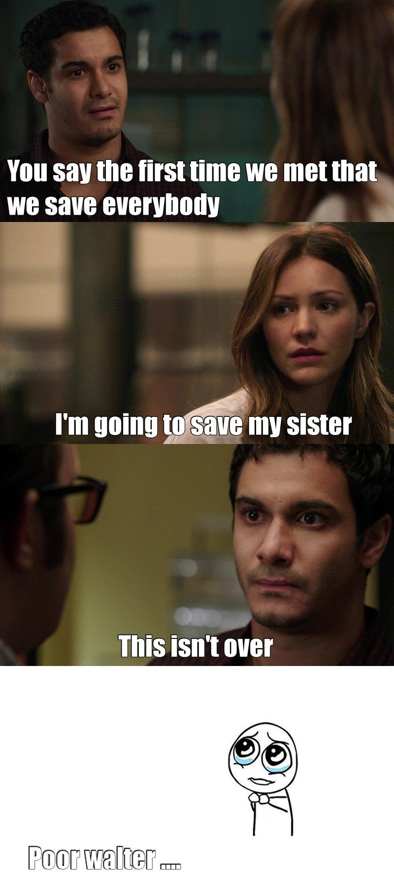 Si Megan meurt, Walt va être dévasté ...  J'espère qu'il pourra la sauvé mais c'est mal parti ... :/    Toby a était super drôle dans cette épisode avec ces prédiction. 😂