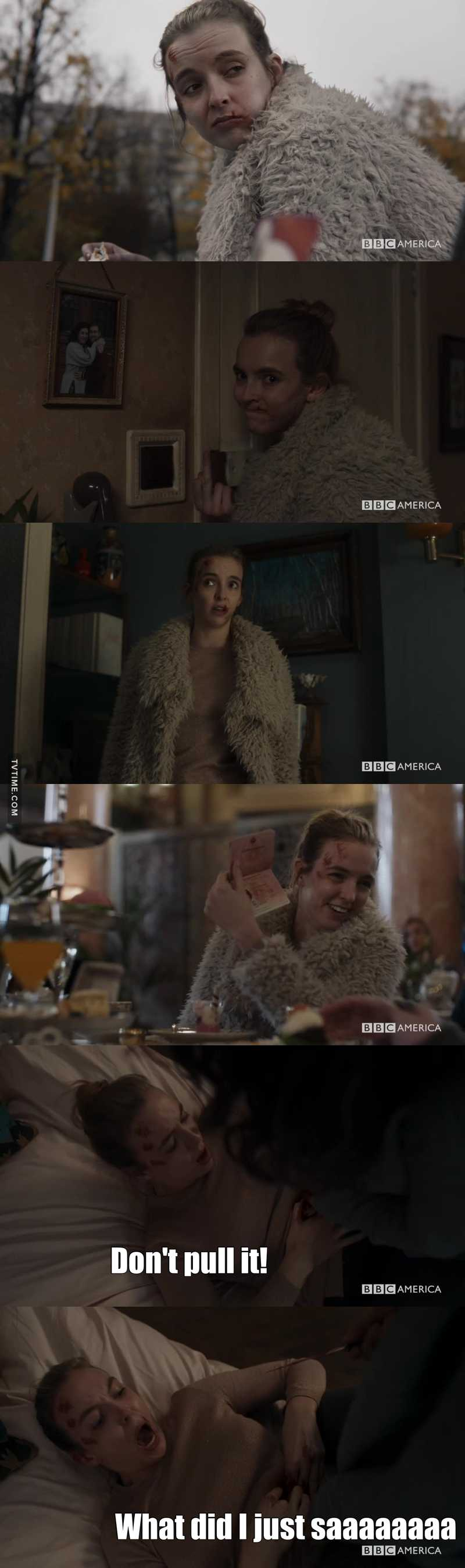 And on this episode of Villanelle's amazing faces: (I'm going to miss this so much....)