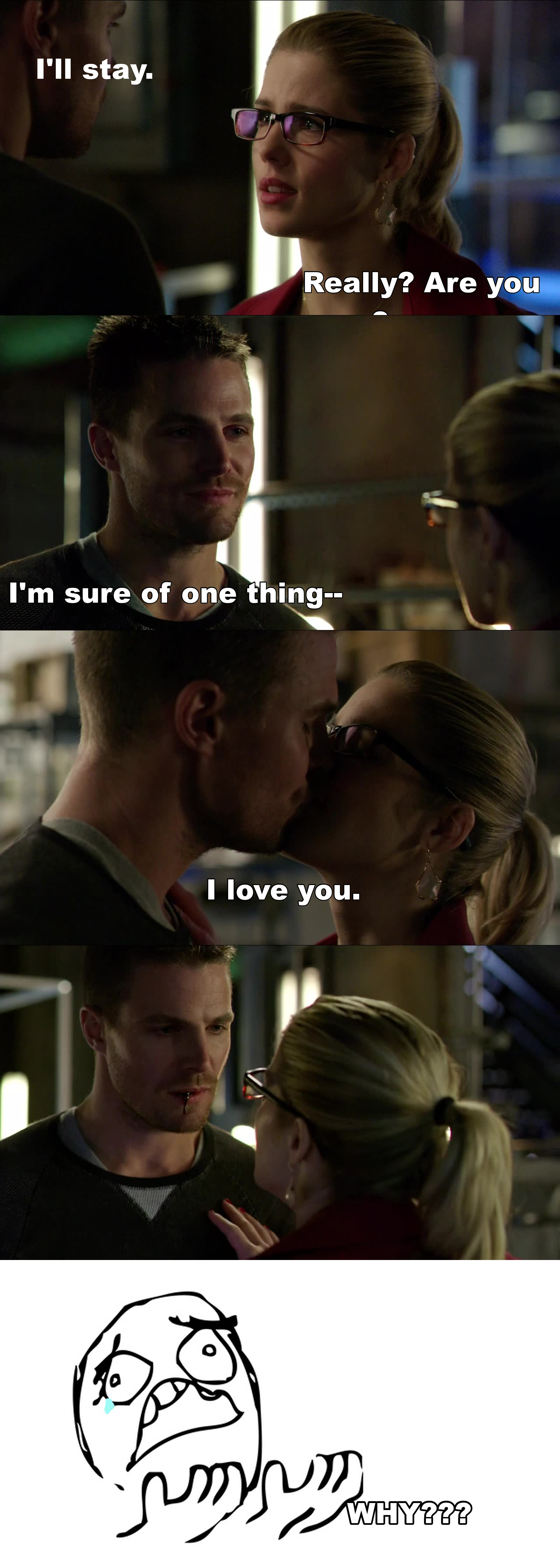 No, not again... Stop breaking our Olicity hearts!