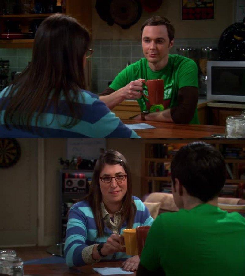 Fantastici gli esperimenti sulla velocità di propagazione dei pettegolezzi! 😃😀   Adoro Amy e Sheldon assieme! ❤
