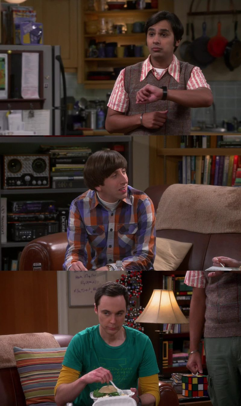 """""""One minute is a long time."""" -- Sheldon """"I've been telling women that for 20 years!"""" -- Howard"""