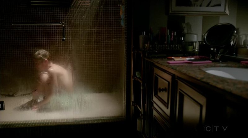 Is Bonnie still in the shower?