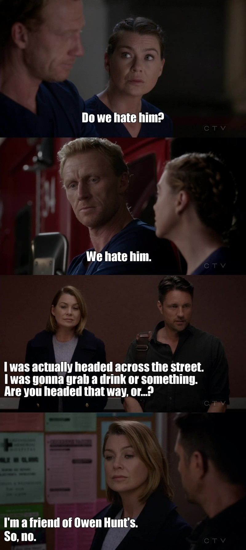 I loved this 😍 Owen and Meredith are my new brotp