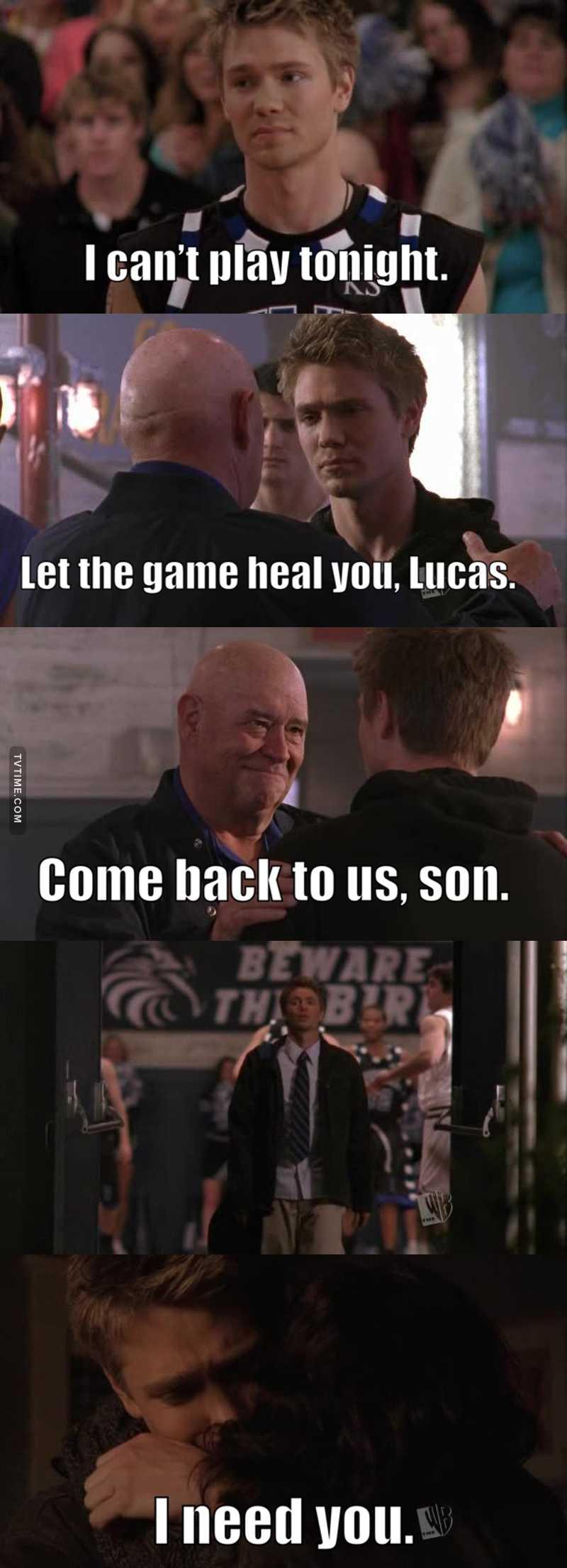 Poor Lucas 😭. Keith's death broke him 😭😭