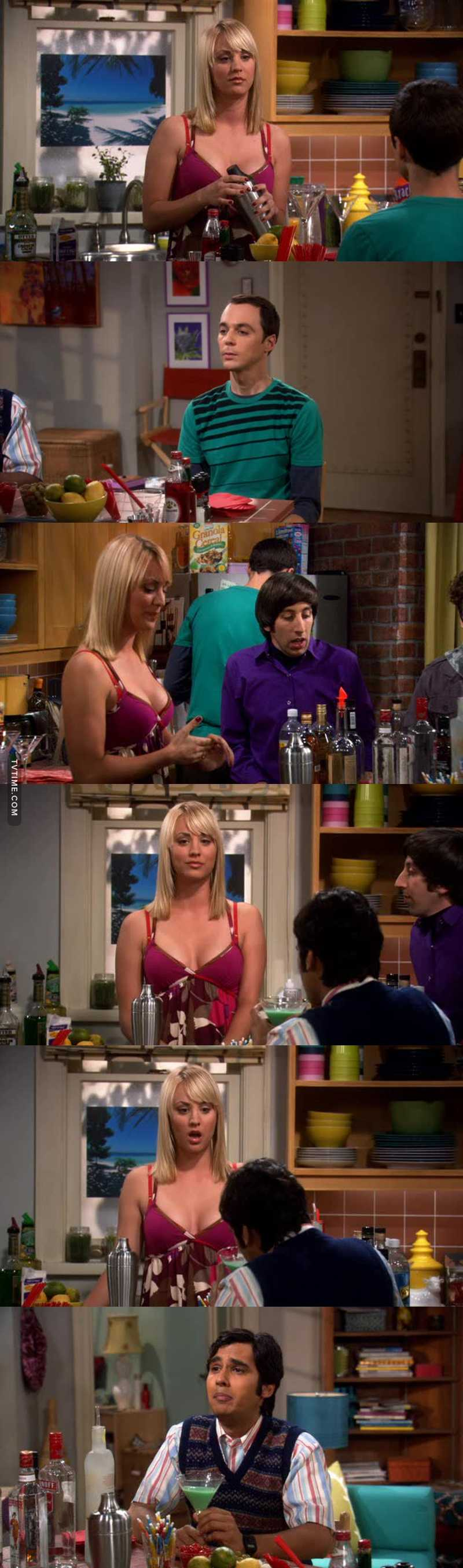 """Sheldon flipping the context around 🤣🤣🤣  """"A slippery nipple"""" 🤣🤣🤣  He finally speaks to Penny 🤣🤣😳😳"""