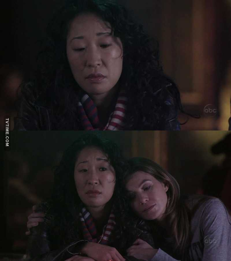 """""""You're my person""""  This episode was so sad. Between Cristina and Meredith i wanted to cry!"""