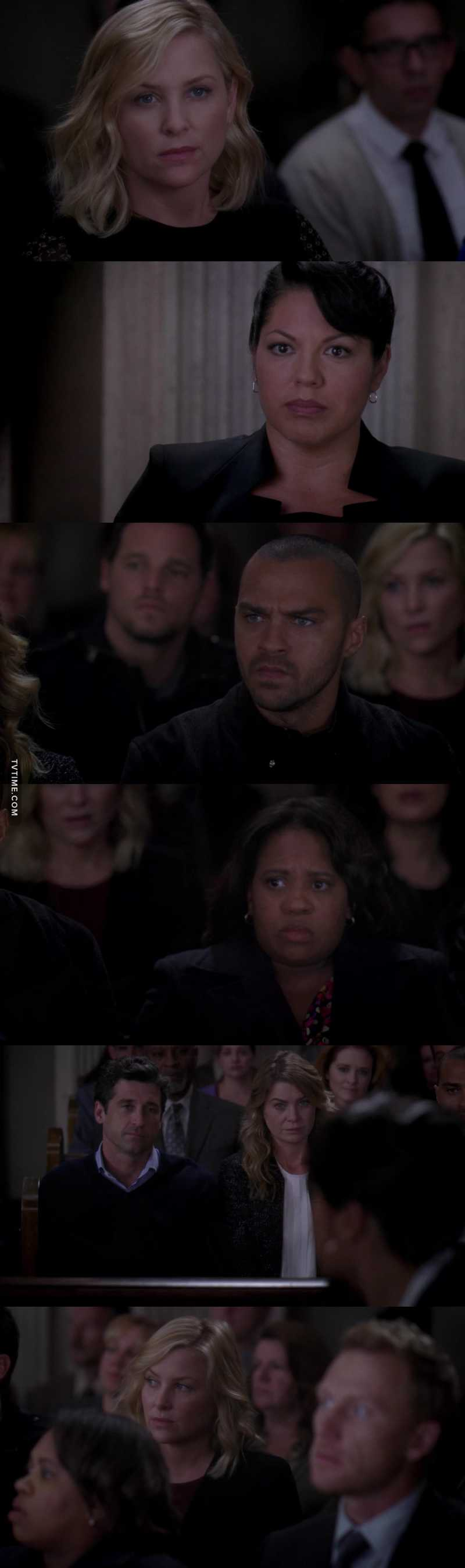 I think it was amazing that Callie's colleagues came to court to support her! That's is so great!