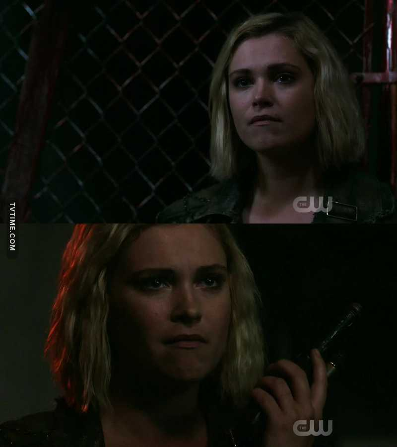 """""""No, it's fine."""" At this moment I knew Clarke was done with Octavia's bullshit. """"We're going to take her out."""" Wanheda has returned and Blodreina is not a match for her."""