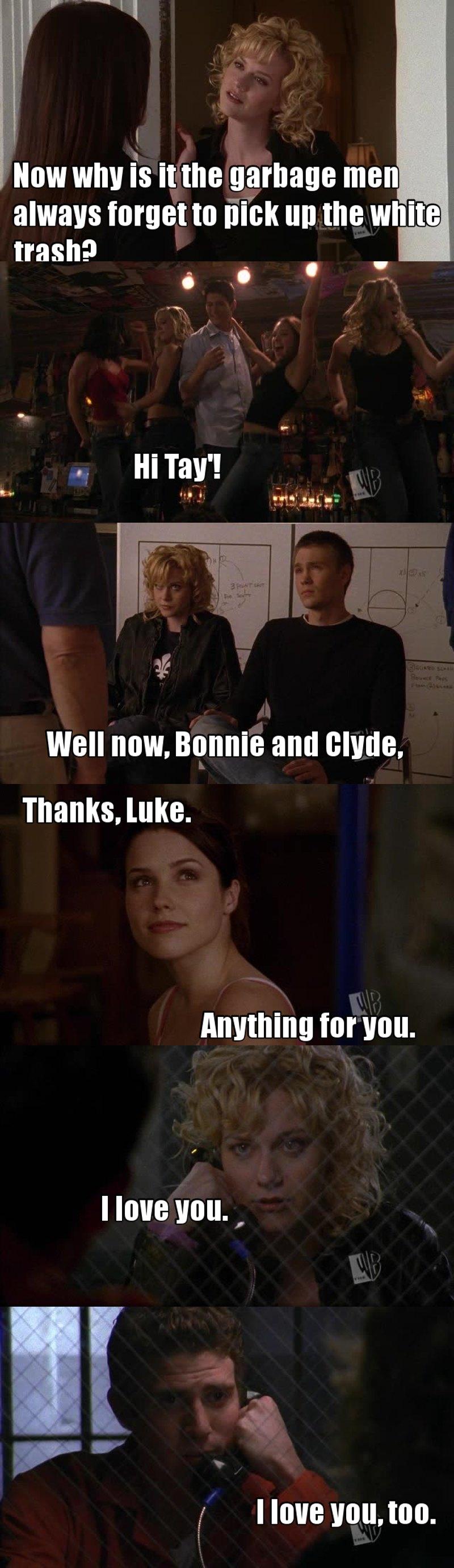 "Goodbye Anna! We'll miss you.  Jake et Peyton font trop mal au coeur dans la scene ""d'au revoir""."