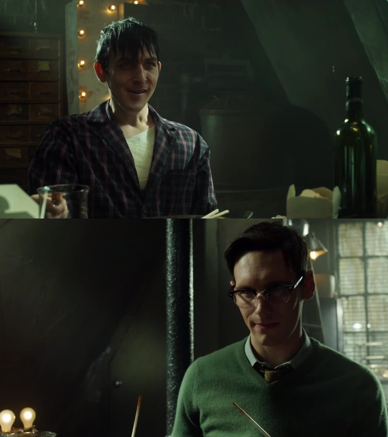 I know they're bad, but I love them!!! Nygma is even more crazy than Penguin!! Bromance in Gotham!